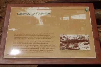 Yosemite Valley Railroad Marker - Panel #1 image. Click for full size.