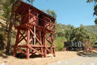 Yosemite Valley Railroad Twin-tank Water Tower and Hetch Hetchy RR Engine #6 image. Click for full size.