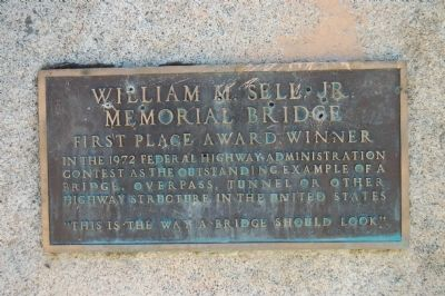 William Sell Jr. Memorial Bridge Marker image. Click for full size.