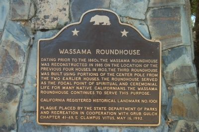 Wassama Roundhouse Marker image. Click for full size.