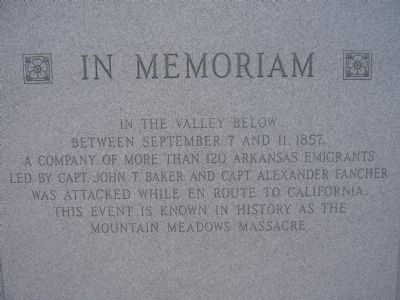 1990 Mountain Meadows Monument Marker image. Click for full size.