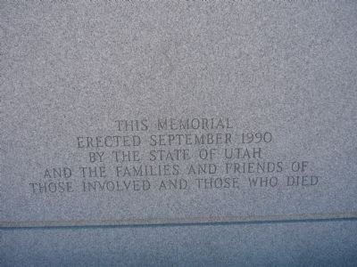 1990 Mountain Meadows Monument Marker image, Touch for more information