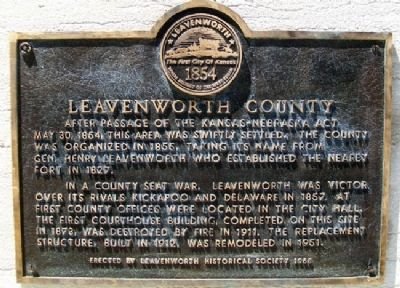 Leavenworth County Marker image. Click for full size.