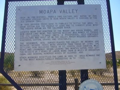 Moapa Valley Marker image. Click for full size.