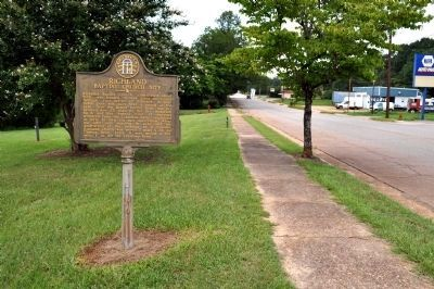 Richland Baptist Church Site Marker image. Click for full size.