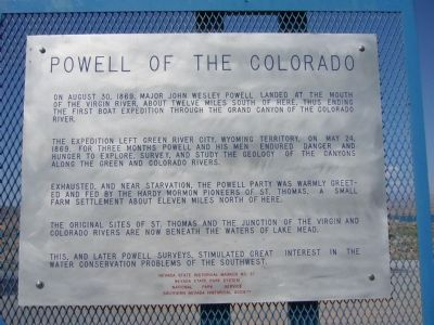 Powell of the Colorado Marker image. Click for full size.