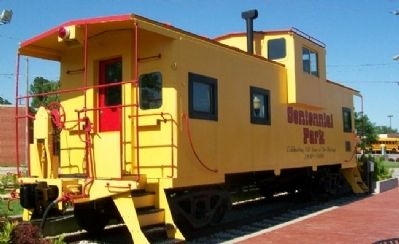Centennial Park Caboose and Marker image. Click for full size.