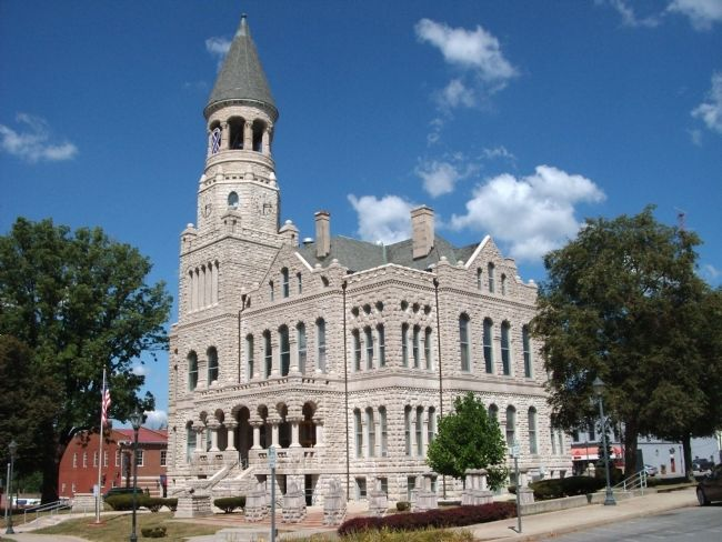 South/East Corner - - Washington County Courthouse - - Salem, Indiana image. Click for full size.