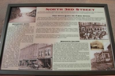North 3rd Street Marker image. Click for full size.