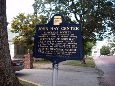 Looking West - - John Hay Center Marker image. Click for full size.