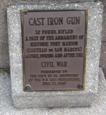Cast Iron Gun Marker image. Click for full size.