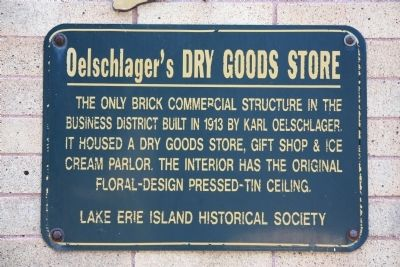 Oelschlager's Dry Goods Store Marker image. Click for full size.