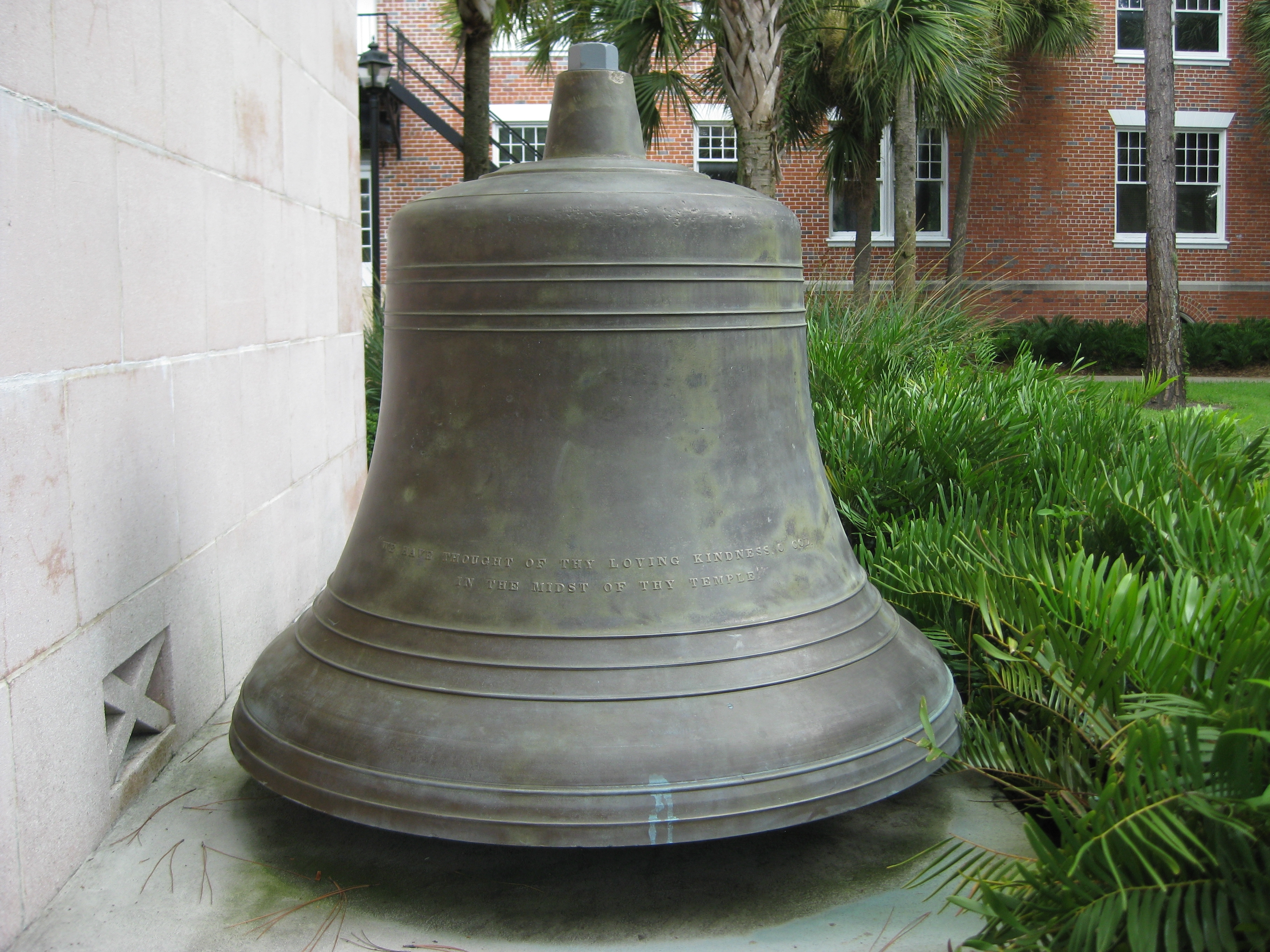 Bell outside Hulley Tower