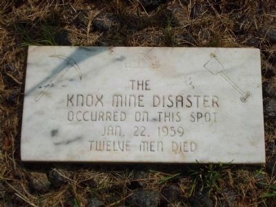 Knox Mine Disaster Site Marker image. Click for full size.