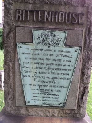 Rittenhouse Marker image. Click for full size.