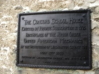 The Concord School House Marker image. Click for full size.