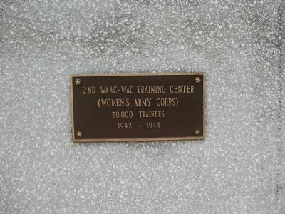 Women's Army Corps Marker image. Click for full size.