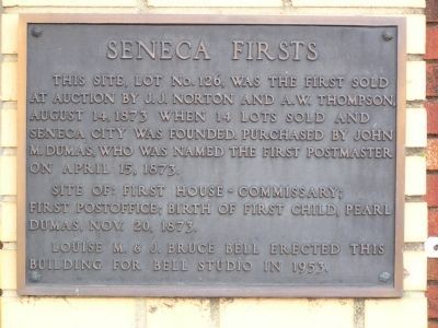 Seneca Firsts Marker image. Click for full size.