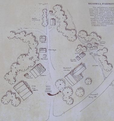 Close up of farmstead diagram image. Click for full size.