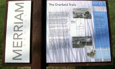 The Overland Trails Marker image. Click for full size.