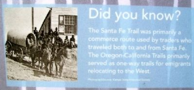 Photo on The Overland Trails Marker image. Click for full size.