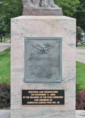 Outagamie County World War I Memorial image. Click for full size.
