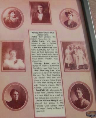 The Ladies of the Fortune Club (detail from the marker) image. Click for full size.