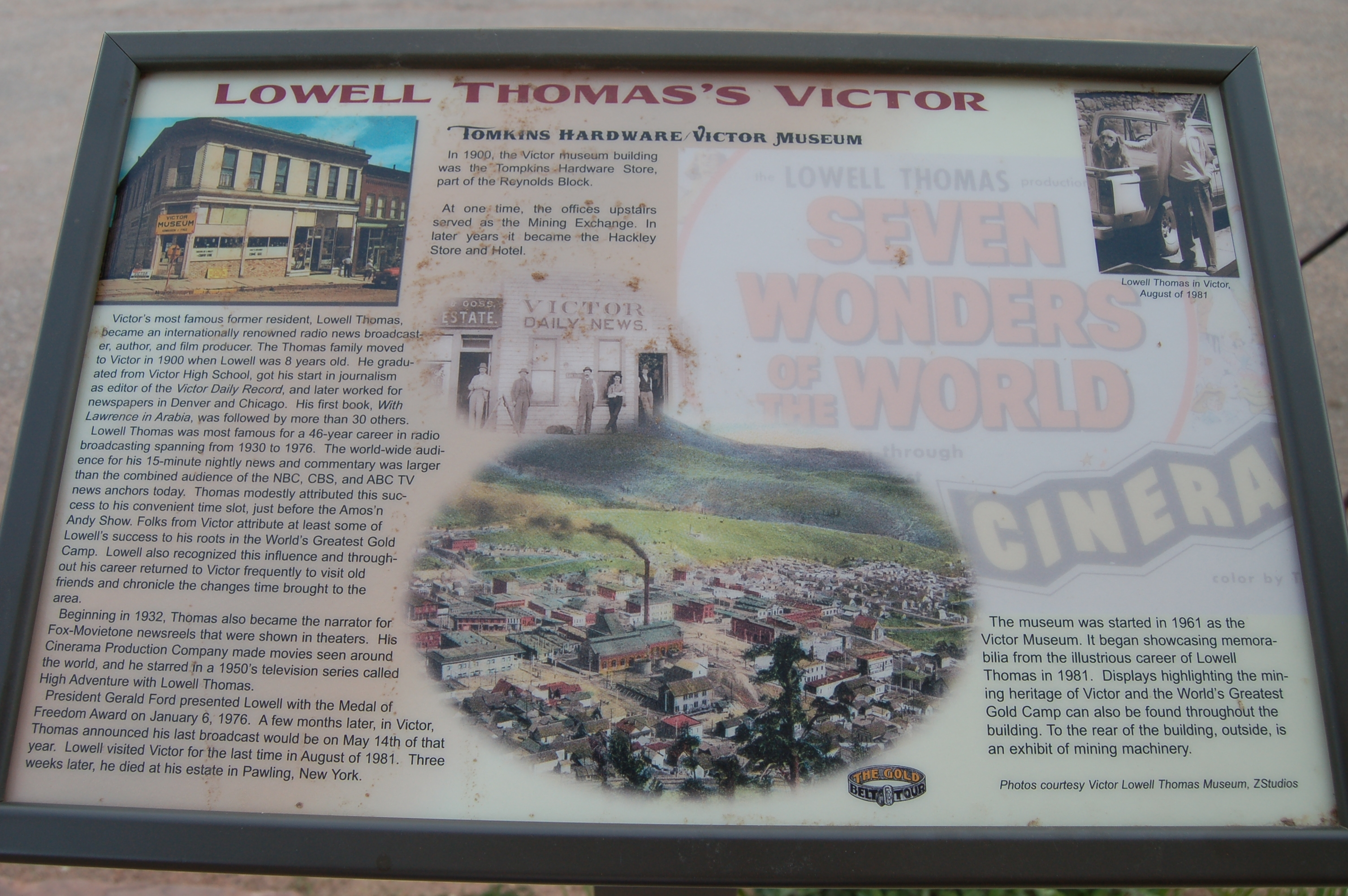 Lowell Thomas's Victor Marker
