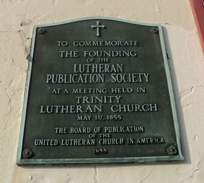 Lutheran Publication Society Marker image. Click for full size.