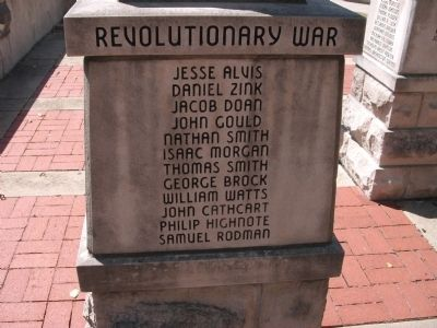 "Panel 'Three' - Revolutionary War Memorial ""One"" image. Click for full size."