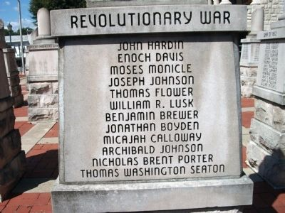 "Panel 'Two' - Revolutionary War Memorial ""Three"" image. Click for full size."