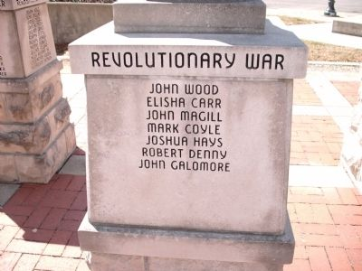"Panel 'Three' - Revolutionary War Memorial ""Three"" image. Click for full size."