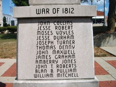 "Panel 'One' - War of 1812 - Memorial ""One"" image. Click for full size."