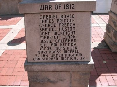 "Panel 'Three' - War of 1812 - Memorial ""One"" image. Click for full size."