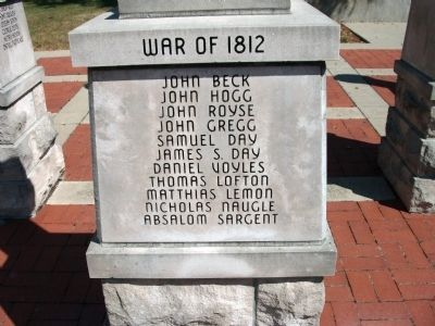 "Panel 'One' - War of 1812 - Memorial ""Two"" image. Click for full size."