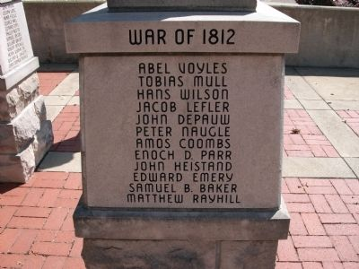 "Panel 'Three' - War of 1812 - Memorial ""Two"" image. Click for full size."