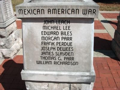 Panel 'One' - Mexican American War - Memorial image. Click for full size.