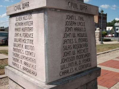 "Panel 'Three & Four' - Civil War - Memorial ""Three"" image. Click for full size."