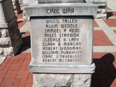 "Panel 'Two' - Civil War - Memorial ""Four"" image. Click for full size."