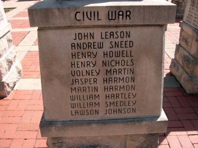 "Panel 'Four' - Civil War - Memorial ""Four"" image. Click for full size."