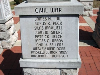 "Panel 'One' - Civil War - Memorial ""Five"" image. Click for full size."