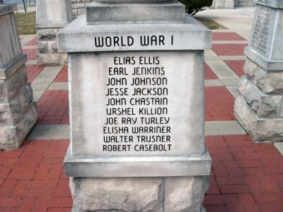 "Panel 'Two' - World War I - Memorial ""One"" image. Click for full size."