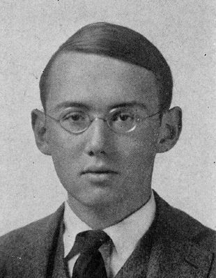 Stephen Vincent Benet, pictured in the college yearbook. image. Click for full size.