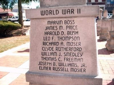 "Panel 'Two' - World War II - Memorial ""One"" image. Click for full size."