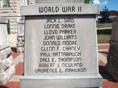 "Panel 'One' - World War II - Memorial ""Two"" image. Click for full size."