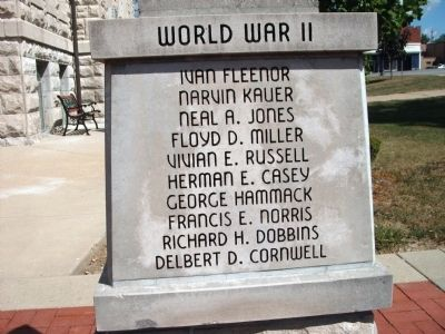 "Panel 'One' - World War II - Memorial ""Three"" image. Click for full size."