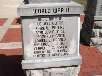"Panel 'One' - World War II - Memorial ""Four"" image. Click for full size."