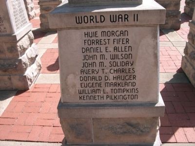"Panel 'Two' - World War II - Memorial ""Four"" image. Click for full size."