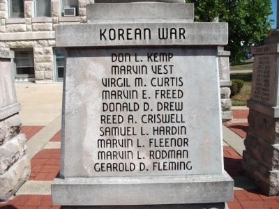 'One' Panel - Korean War - Memorial image. Click for full size.