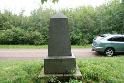 PA-OH Border Monument Marker image. Click for full size.
